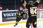Stockholm 2014-09-27 Ishockey Hockeyallsvenskan AIK - Mora IK :  <br /> AIK:s Christian Sandberg har gjort 1-0 och jublar <br /> (Foto: Kenta J&ouml;nsson) Nyckelord:  AIK Gnaget Hockeyallsvenskan Allsvenskan Hovet Johanneshovs Isstadion Mora MIK jubel gl&auml;dje lycka glad happy