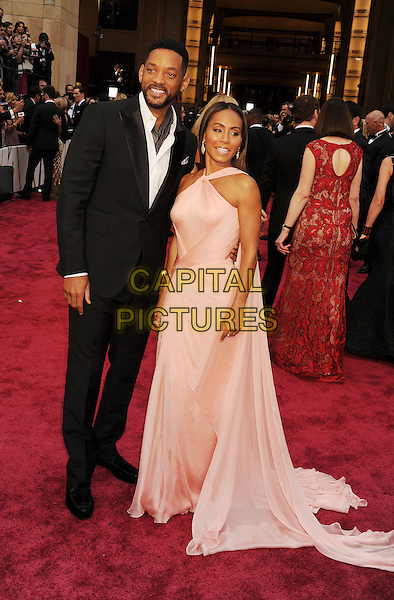HOLLYWOOD, CA- MARCH 02: Actors Will Smith (L) and Jada Pinkett Smith attend the 86th Annual Academy Awards held at Hollywood &amp; Highland Center on March 2, 2014 in Hollywood, California.<br /> CAP/ROT/TM<br /> &copy;Tony Michaels/Roth Stock/Capital Pictures