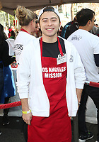 21 December 2018 - Los Angeles, California - Ryan Ochoa. Los Angeles Mission Christmas Meal for the Homeless held at Los Angeles Mission. Photo Credit: F. Sadou/AdMedia