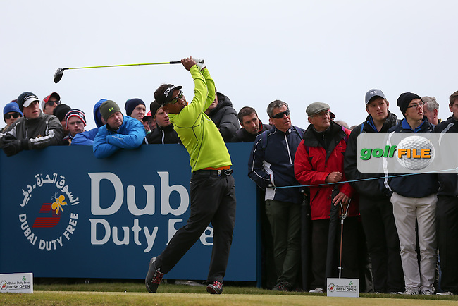 Thongchai Jaidee (THA) drives from the 8th tee during Round Three of the 2015 Dubai Duty Free Irish Open Hosted by The Rory Foundation at Royal County Down Golf Club, Newcastle County Down, Northern Ireland. 30/05/2015. Picture David Lloyd | www.golffile.ie