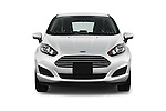 Car photography straight front view of a 2017 Ford Fiesta SE 5 Door Hatchback Front View