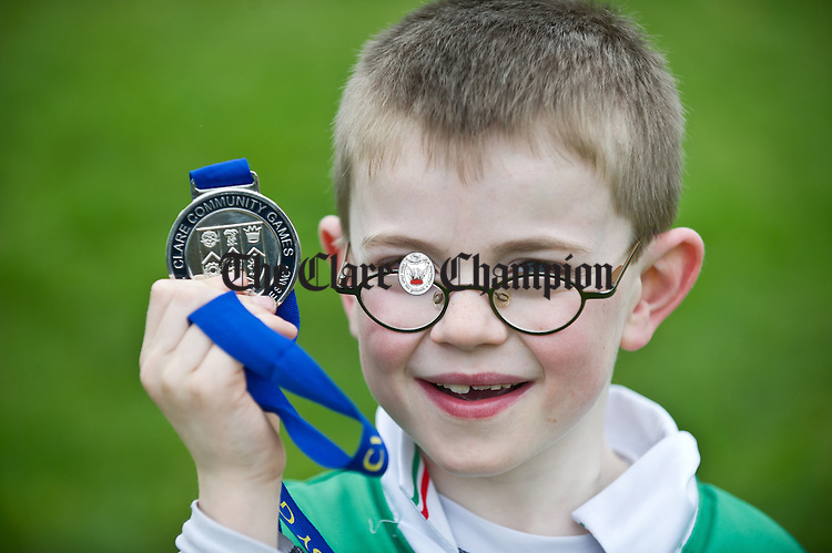 Shane Harrison won a medal at the Clare Community Games Cross Country event at Lees Road in Ennis. Photograph by John Kelly.
