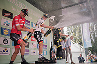 podium champaign for German National Champion Pascal Ackermann (DEU/BORA-hansgrohe) who wins the 98th Brussels Cycling Classic 2018, while Jasper Stuyven (BEL/Trek-Segafredo) ends 2nd<br /> <br /> One Day Race:  Brussels > Brussels (201km)