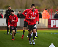 Lincoln City's Neal Eardley during the pre-match warm-up<br /> <br /> Photographer Andrew Vaughan/CameraSport<br /> <br /> The EFL Sky Bet League Two - Cambridge United v Lincoln City - Saturday 29th December 2018  - Abbey Stadium - Cambridge<br /> <br /> World Copyright © 2018 CameraSport. All rights reserved. 43 Linden Ave. Countesthorpe. Leicester. England. LE8 5PG - Tel: +44 (0) 116 277 4147 - admin@camerasport.com - www.camerasport.com