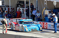 30 January 2011: The winning Ganassi Racing BMW Riley of Scott Pruett, Memo Rojas, Graham Rahal and Joey Hand waits out a timed penalty during the  Rolex 24 at Daytona, Daytona International Speedway, Daytona Beach, FL (Photo by Brian Cleary/www.bcpix.com)