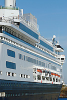 Canada, Montreal, Cruise ship at dock