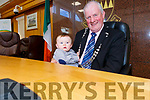 Cllr Dan McCarthy the first Cathaoirleach of the newly formed Kenmare Municipal District with his grandson Aodhan Kelly