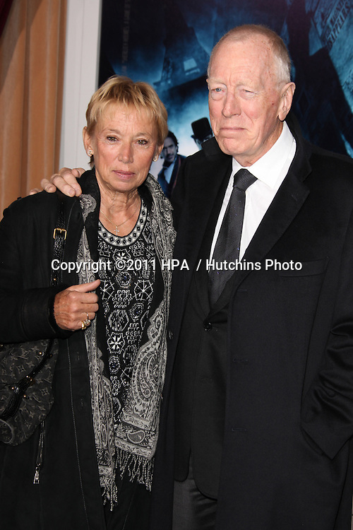"LOS ANGELES - DEC 6:  Max von Sydow arrives at the ""Sherlock Holmes: A Game of Shadows"" Los Angeles Premiere at Regency Village Theatre on December 6, 2011 in Westwood, CA"