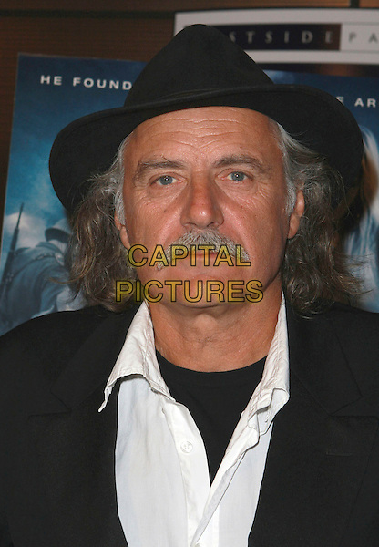 "RADE SERBEDZIJA.""Fugitive Pieces"" Los Angeles Premiere at the Landmark Theatre, Los Angeles, California, USA, 14 April 2008 .portrait headshot black hat moustache .CAP/ADM/`CH.©Charles Harris/Admedia/Capital PIctures"