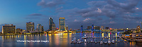 63412-01016 St. Johns River and Jacksonville Florida skyline at twilight Jacksonville, FL