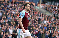 Burnley's Ashley Barnes<br /> <br /> Photographer Rich Linley/CameraSport<br /> <br /> The Premier League - Saturday 13th April 2019 - Burnley v Cardiff City - Turf Moor - Burnley<br /> <br /> World Copyright © 2019 CameraSport. All rights reserved. 43 Linden Ave. Countesthorpe. Leicester. England. LE8 5PG - Tel: +44 (0) 116 277 4147 - admin@camerasport.com - www.camerasport.com