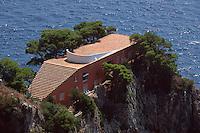 Villa Malaparte am Pizzolungo-Wanderweg, Capri, Italien