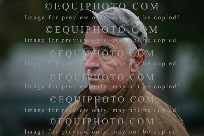 Trainer Nick Zito on the backstretch of Monmouth Park..Photo By Bill Denver/EQUI-PHOTO