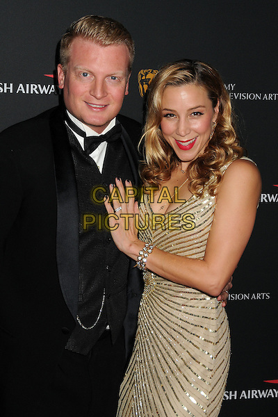 9 November 2013 - Beverly Hills, California - Kris Lythgoe, Becky Baeling. BAFTA LA 2013 Jaguar Britannia Awards held at the Beverly Hilton Hotel.  <br /> CAP/ADM/BP<br /> &copy;Byron Purvis/AdMedia/Capital Pictures