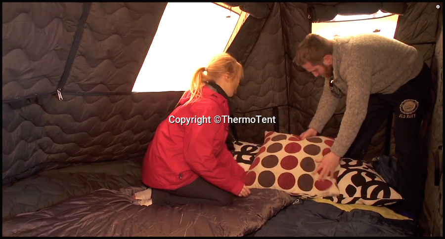 BNPS.co.uk (01202 558833)<br /> Pic: ThermoTent/BNPS<br /> <br /> The Thermo Tent's sleeping area..<br /> <br /> An inventor is hoping to revolutionise the camping world just in time for the notorious British summer after launching an insulated tent that keeps campers warm in cold weather and cool in the heat.<br /> <br /> Derek O'Sullivan says his Thermo Tent will finally end the age-old problem of campers being freezing cold at night then boiling hot once the sun comes up by mimicking house insulation.<br /> <br /> It means the temperature inside the tent remains stable, putting paid to common camping problems like having to take extra sleeping bags or having to wake up at the crack of dawn to let fresh air in.<br /> <br /> And Derek says that thanks to the insulation his Thermo Tents also block out noise, saving campers the misery of being kept awake by revellers or being woken early by screaming children.<br /> <br /> He has now launched the product on crowdfunding website Kickstarter where it has captured the imaginations of the online community -  almost all of the 40,000 euros he needs to get his company started has been pledged.