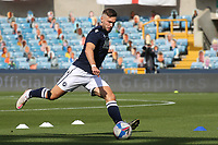 Tom Bradshaw of Millwall warms up ahead of kick-off during Millwall vs Stoke City, Sky Bet EFL Championship Football at The Den on 12th September 2020