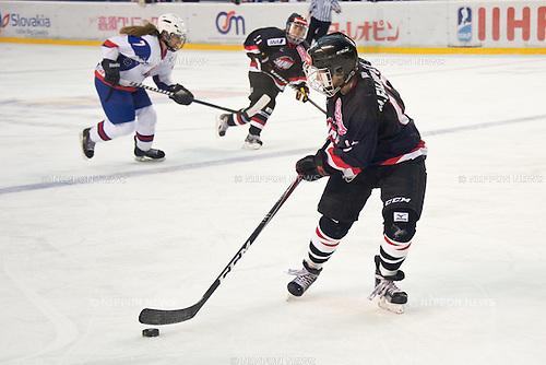 Moeko Fujimoto (JPN), FEBRUARY 8, 2013 - Ice Hockey : Women's Olympic Ice Hockey Qualification Tournament 2013, Group C, match between Japan 0-1 Slovakia at Ice Stadium, Poprad, Slovakia, (Photo by Enrico Calderoni/AFLO SPORT) [0391]