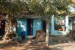 Einfaches Haus in Hampi, Karnataka, Indien