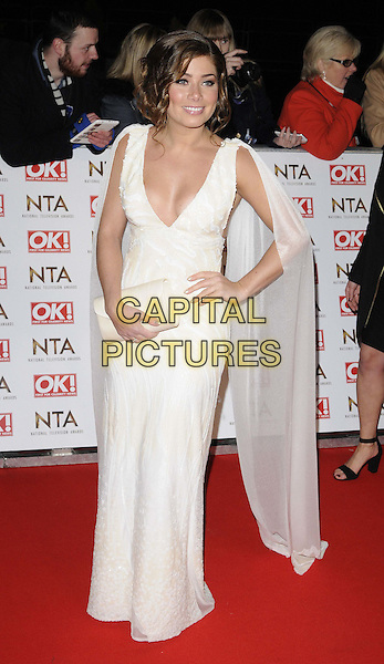 LONDON, ENGLAND - JANUARY 21: Nikki Sanderson attends the National TV Awards 2015, The O2 Arena, Millennium Way, Peninsula Square, Greenwich, on Wednesday January 21, 2015 in London, England, UK. <br /> CAP/CAN<br /> &copy;CAN/Capital Pictures