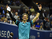 8th September 2017, Flushing Meadows, New York, USA;   Kevin Anderson (RSI) reacts after winning his men's singles semi-final at the US Open on September 08, 2017 at the Billie Jean King National Tennis Center in Flushing Meadow, NY.