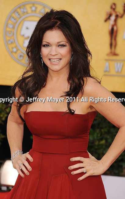 LOS ANGELES, CA - January 30: Valerie Bertinelli arrives at the 17th Annual Screen Actors Guild Awards held at The Shrine Auditorium on January 30, 2011 in Los Angeles, California.