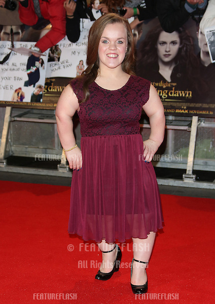 "Ellie Simmonds arriving for the ""The Twilight Saga: Breaking Dawn Part 2"" premiere at the Odeon Leicester Square, London. 14/11/2012 Picture by: Henry Harris / Featureflash"