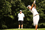 Seo-Jae Lee from Seoul, South Korea tees off on the 16th tee at the Alliance Bank Golf Classic in Syracuse, NY.