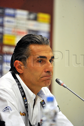 Sep 04, 2010; Istanbul, TURKEY; Defending champions Spain broke open a close game in the fourth quarter and continued their mastery over Greece by winning their Eight-Final showdown at the FIBA World Championship on Saturday. Spain's head coach Sergio Scariolo at the press conference after the game.