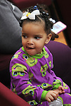 Member of the audience, at a Community Policing Forum, sponsored by the Kingston Branch of ENJAN and the Ministers Alliance of Ulster Co., held at New Progressive Baptist Church, on Hone Street in Kingston, NY, on Tuesday, December 13, 2016. Photo by Jim Peppler; Copyright Jim Peppler 2016.