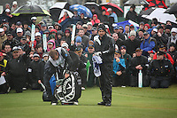 Shane Lowry(AM)winner of the irish open after 3 playoff holes against Robert Rock at the final round at the 3 Irish open in Co Louth Golf Club..Pictured Robert rock trying to win the playoff hole..Photo: Fran Caffrey/www.golffile.ie..