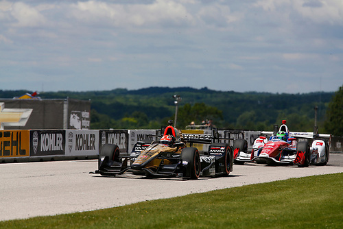 Verizon IndyCar Series<br /> Kohler Grand Prix<br /> Road America, Elkhart Lake, WI USA<br /> Sunday 25 June 2017<br /> James Hinchcliffe, Schmidt Peterson Motorsports Honda<br /> World Copyright: Phillip Abbott<br /> LAT Images<br /> ref: Digital Image abbott_elkhart_0617_8082