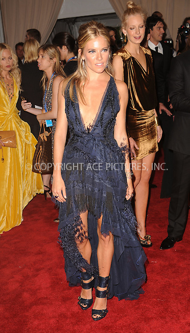 WWW.ACEPIXS.COM . . . . . ....May 3 2010, New York City....Sienna Miller arriving at the Costume Institute Gala Benefit to celebrate the opening of the 'American Woman: Fashioning a National Identity' exhibition at The Metropolitan Museum of Art on May 3, 2010 in New York City.....Please byline: KRISTIN CALLAHAN - ACEPIXS.COM.. . . . . . ..Ace Pictures, Inc:  ..(212) 243-8787 or (646) 679 0430..e-mail: picturedesk@acepixs.com..web: http://www.acepixs.com