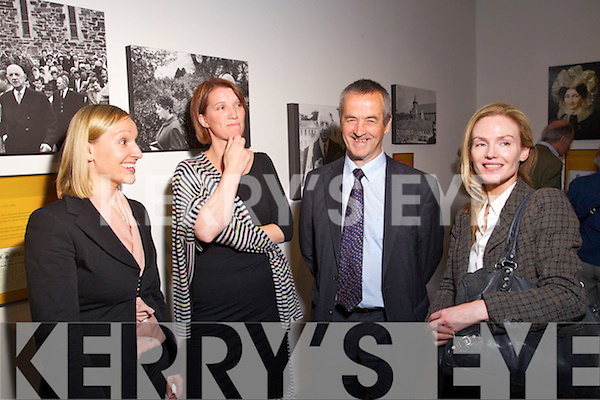 "Pictured at the exhibition ""A Quiet Holiday"" at the Irish Cultural Centre, Paris on Tuesday Evening were Minister Lucinda Creighton, Nicola Duggan, Manager Sneem Hotel, Louis Moriarty, Owner Sneem Hotel and Sharon Lysaght, Fermoy."