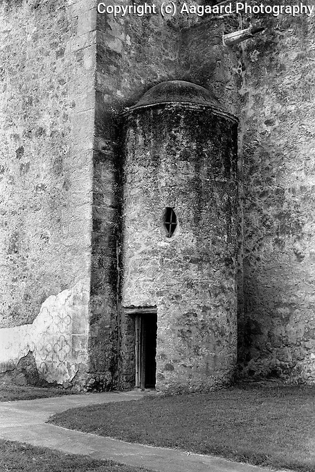 Mission San Jose, San Antonio, Texas.<br /> <br /> Canon EOS 1, 50mm lens, Kodak TMAX 100 film