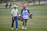 Joaquin Niemann (CHL) approaches the 18th green during Round 3 of the Valero Texas Open, AT&amp;T Oaks Course, TPC San Antonio, San Antonio, Texas, USA. 4/21/2018.<br /> Picture: Golffile | Ken Murray<br /> <br /> <br /> All photo usage must carry mandatory copyright credit (&copy; Golffile | Ken Murray)