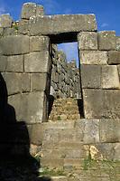Sacsayhuaman, Cuzco, Peru - Stonework and Doorway