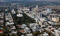 aerial photograph of Sacramento