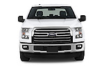 Car photography straight front view of a 2015 Ford F 150 Xlt 4X2 Ecoboost 5 Door Trucks