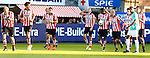 Nederland, Rotterdam, 15 mei 2014<br /> Jupiler Play-Offs<br /> Finale<br /> Sparta-FC Dordrecht (2-2)<br /> Mimoun Mahi (m.) van Sparta juicht na een doelpunt