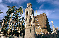 Hale o Keawe Ki'i  images, City of Refuge, Big Island, Hawaii