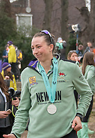Greater London. United Kingdom, Cambridge Women's stroke Olivia COFFEY, with her Winners Medal. Women's  University Boat Race , Cambridge University vs Cambridge University Putney to Mortlake,  Championship Course, River Thames, London. <br /> <br /> Saturday  24.03.18<br /> <br /> [Mandatory Credit  Intersport Images]