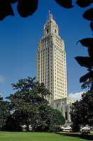 The Louisiana State Capitol building in Baton Rouge. Baton Rouge LA USA.