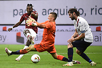 Rafael Leao of AC Milan in action during the Serie A football match between AC Milan and Bologna FC at stadio Giuseppe Meazza in Milano ( Italy ), July 18th, 2020. Play resumes behind closed doors following the outbreak of the coronavirus disease. <br /> Photo Image Sport / Insidefoto