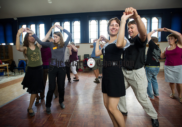 A dance class in progress during the Willie Clancy Week at Miltown Malbay. Photograph by John Kelly.