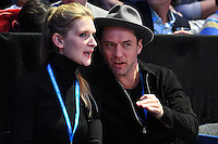 Jude Law and Phillipa Coan<br /> Londra 20-11-2016 <br /> Tennis ATP FINALS 2016 <br /> Finale <br /> Foto Antoine Couvercelle / panoramic / Insidefoto