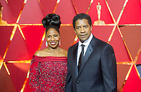 www.acepixs.com<br /> <br /> February 26 2017, Hollywood CA<br /> <br /> Actor/filmmaker Denzel Washington (R) and Pauletta Washington arriving at the 89th Annual Academy Awards at Hollywood &amp; Highland Center on February 26, 2017 in Hollywood, California.<br /> <br /> By Line: Z17/ACE Pictures<br /> <br /> <br /> ACE Pictures Inc<br /> Tel: 6467670430<br /> Email: info@acepixs.com<br /> www.acepixs.com