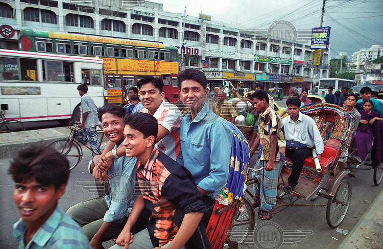 Dhaka is a city of over 600,000 rickshaws. The drivers - rickshaw wallahs - are mostly migrants from the countryside.