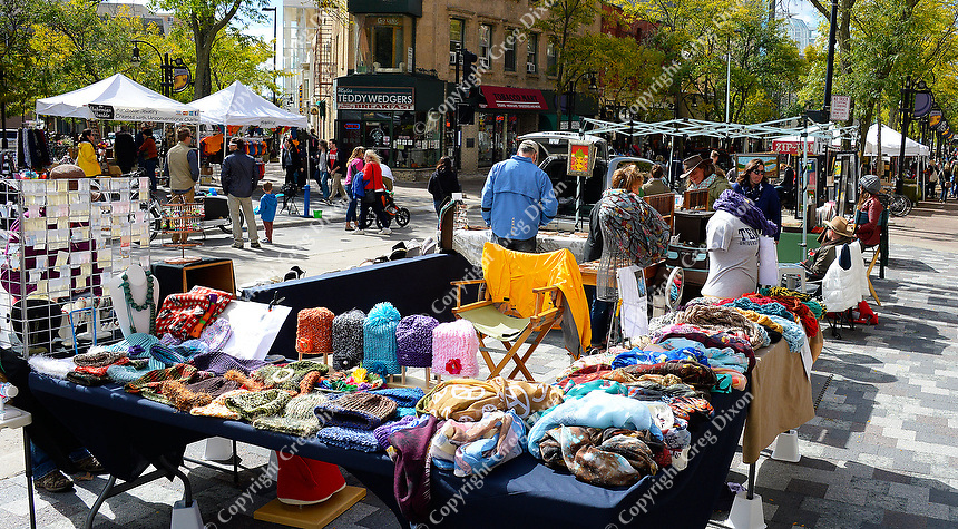People shop on State Street's 100 Block on Saturday, October 3, 2015 in Madison, Wisconsin