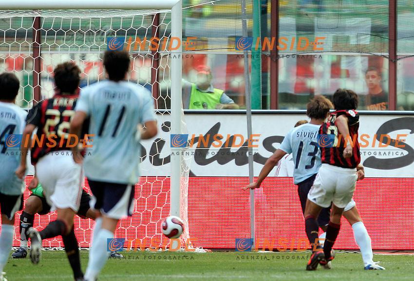 Milano 10/9/2006 CAMPIONATO ITALIANO SERIE A - MILAN LAZIO 1a giornata. Foto Andrea Staccioli INSIDE<br /> Filippo INZAGHI segna il primo gol per il Milan