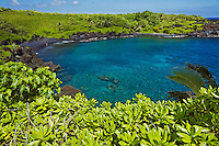 Clear water at Waianapanapa State Park, Maui.